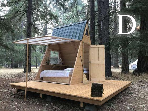 خانه چوبی طرح  D